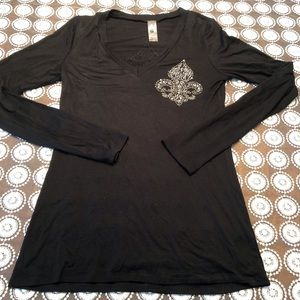 S Twelve Long Sleeve Shirt with rhinestones.